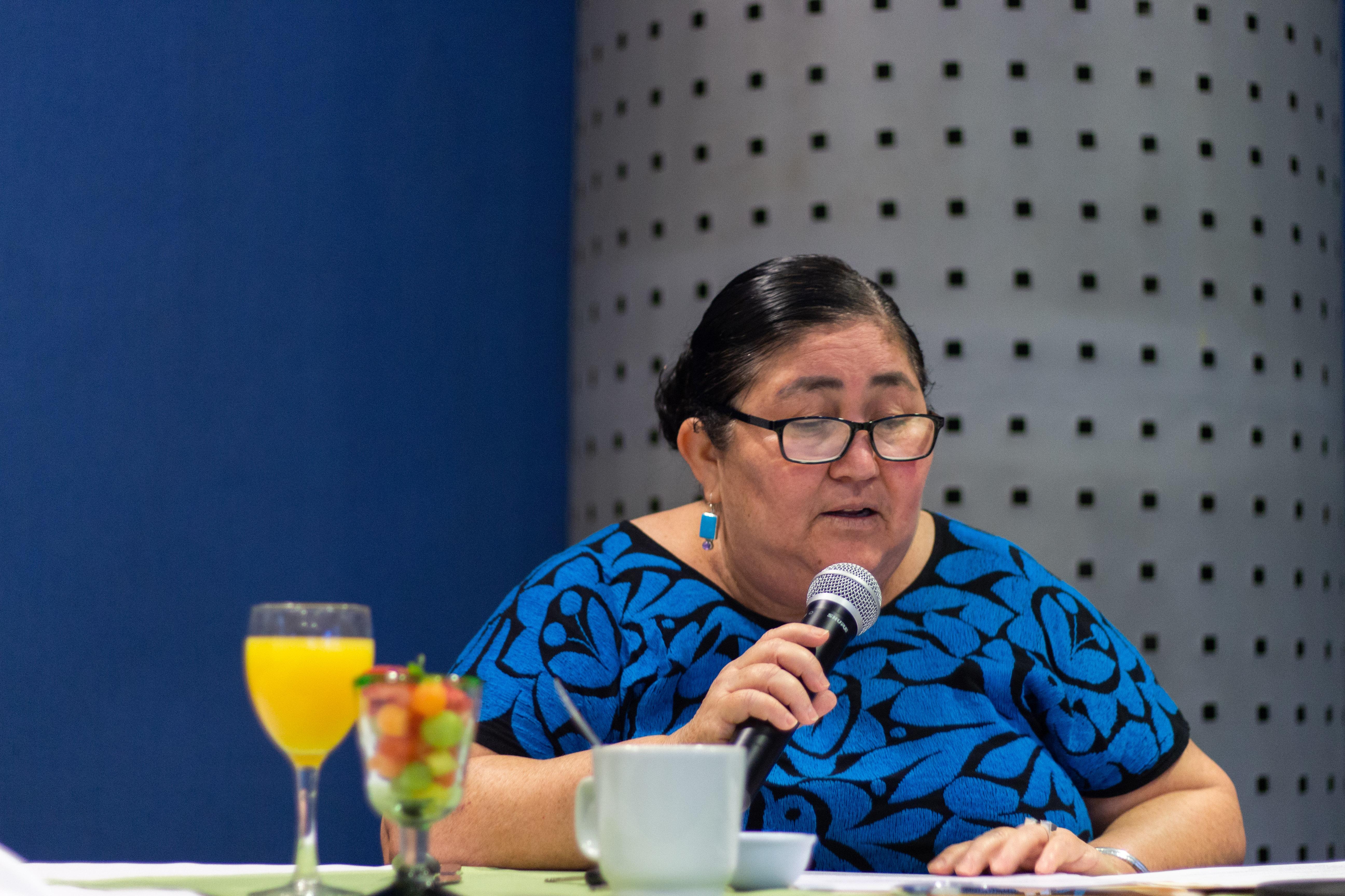Presidenta del H. Consejo Social del CUCosta, Sra. Evangelina Sánchez Dueñas