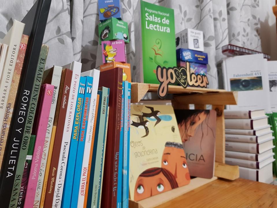 """El acervo literario actual de la Sala de Lectura """"Letras Navegantes"""" es de 120 títulos"""