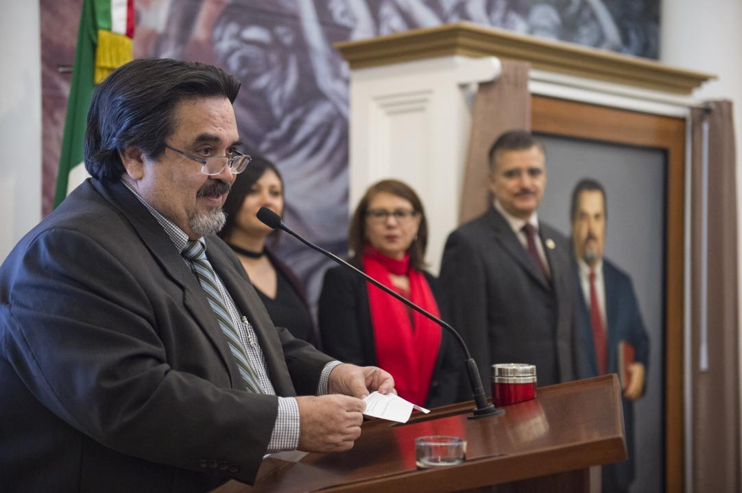 El Rector del CUCosta, Dr. Marco Antonio Cortés Guardado